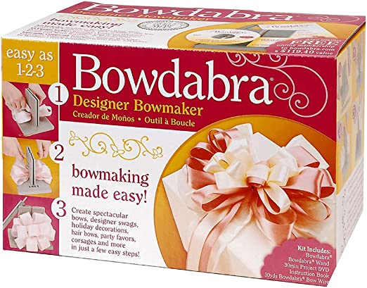 Bowdabra Custom Designer Hair Bow Making Kit Do It Yourself Crafting Tool DIY