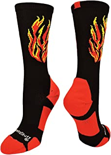 product image for MadSportsStuff Flame Athletic Crew Socks (Multiple Colors)