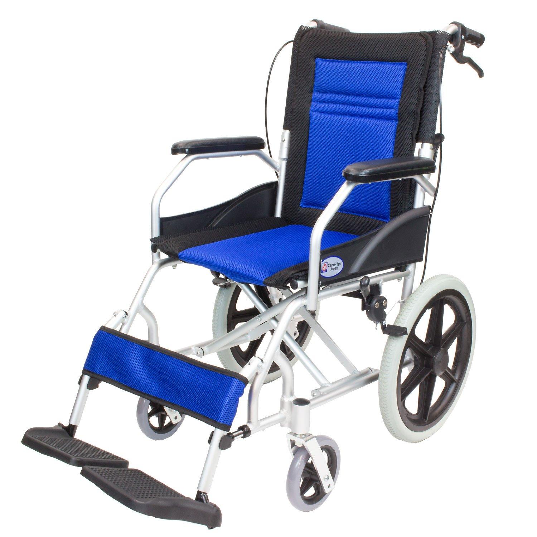 ケアテックジャパン 介助式車椅子 CA-22SU ハピネスライト -介助式- (ブルー) B01NC02Z1Q ブルー ブルー