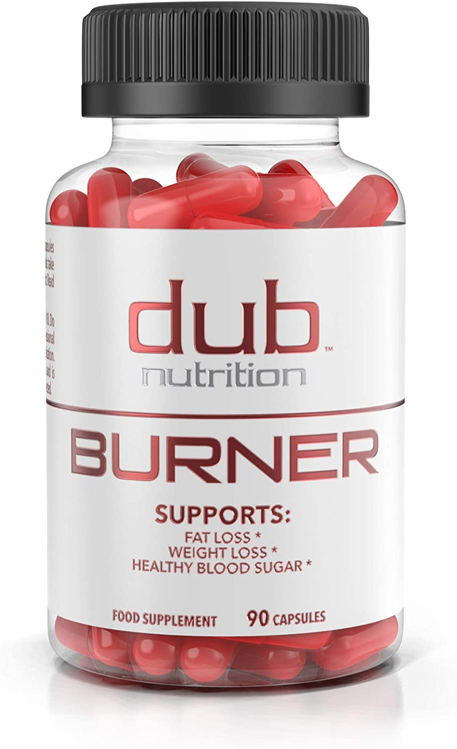 Fat Burner by dub Nutrition Best Weight Loss Pills Thermogenic Supplement Natural Energy and Appetite Suppressant, Includes Red Rasberry Ketones, Guarana, and BCAA. 90 Capsules. Fast Absorbing.