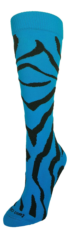 TCK Krazisox ゼブラストライプソックス B015P4NODU Medium|Electric Blue/Black Electric Blue/Black Medium