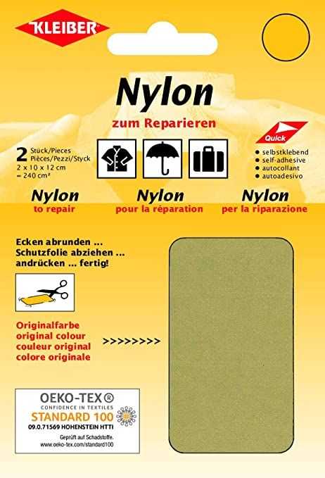 Kleiber - Parches de reparación de Nailon, Impermeables, autoadhesivos, Color Color Beige: Amazon.es: Hogar