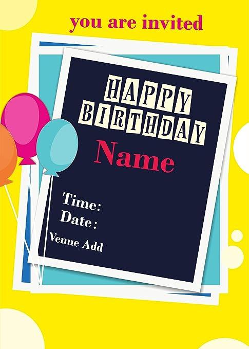 Ezellohub Best Fancy Designer Happy Birthday Note Pad