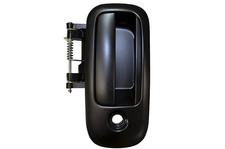 Outside Exterior Outer Sliding Door Handle Passenger Side Smooth Black PT Auto Warehouse GM-3906S-MR