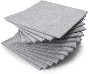 12 Pack 12 X 12 X 0.4 Inches Acoustic Absorption Panel, Beveled Edge Tiles Soundproofing Insulation, Used in Home & Offices