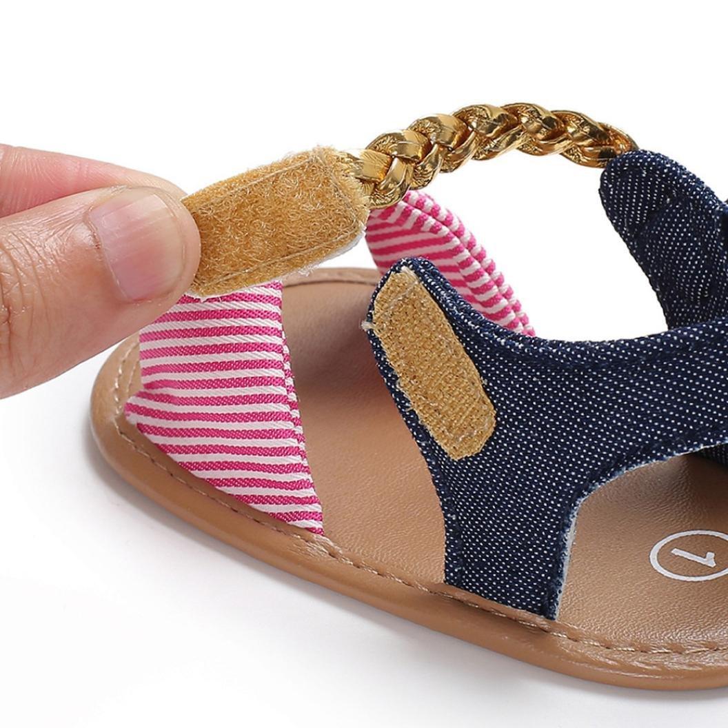 cinnamou Baby Sandalen Woven Schuh Sommer Freizeitschuhe Outdoor Sneaker Cartoon Anti-Rutsch-weiche Sohle Kleinkind Schuhe 12~18 Monate, Blau