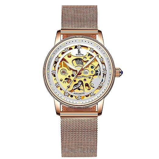 IK - Reloj de Pulsera para Mujer con Esqueleto para Colorear, Estilo Casual, automático
