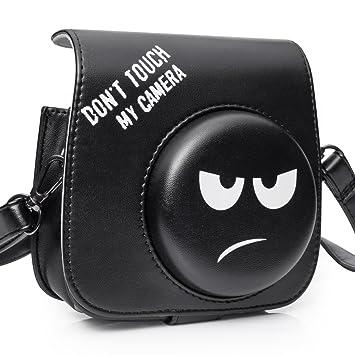 5816c36c6e90 Amazon.com   CAIUL Compatible Mini 8 Groovy Emoji Camera Case Bag for Fujifilm  Instax Mini 8 8+ 9 Camera - Black