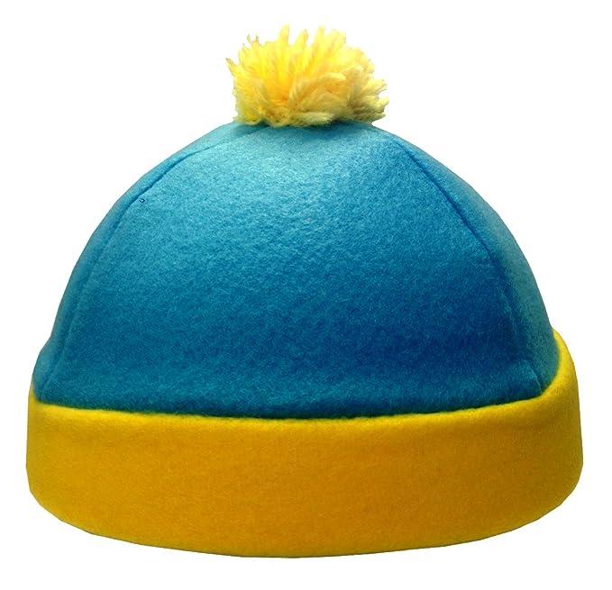 96e1d7076b5 Amazon.com  MyPartyShirt Eric Cartman Blue and Yellow Costume Beanie Hat   Clothing