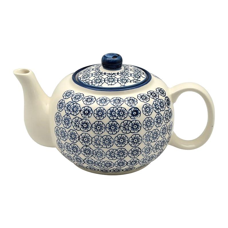 Théière en porcelaine ornée de motifs - 820 ml - imprimé fleur ...