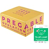 Pregable Combo Kit of 50 Ovulation Tests and 20 Pregnancy Tests, Free Tracker app, OPKs, HPTs (50LH + 20HCG)