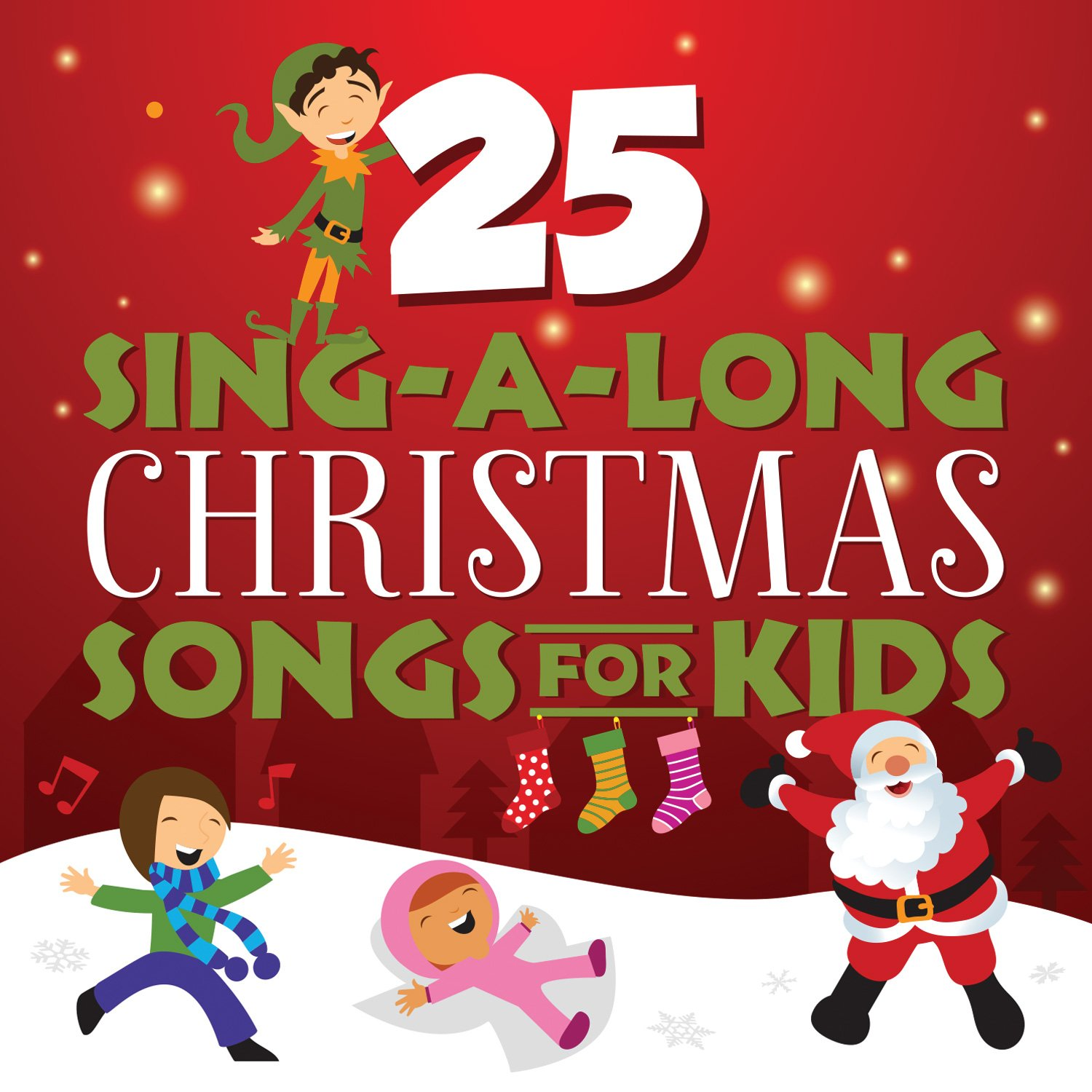 songtime kids 25 sing a long christmas songs for kids amazoncom music - Christmas Songs For Kids