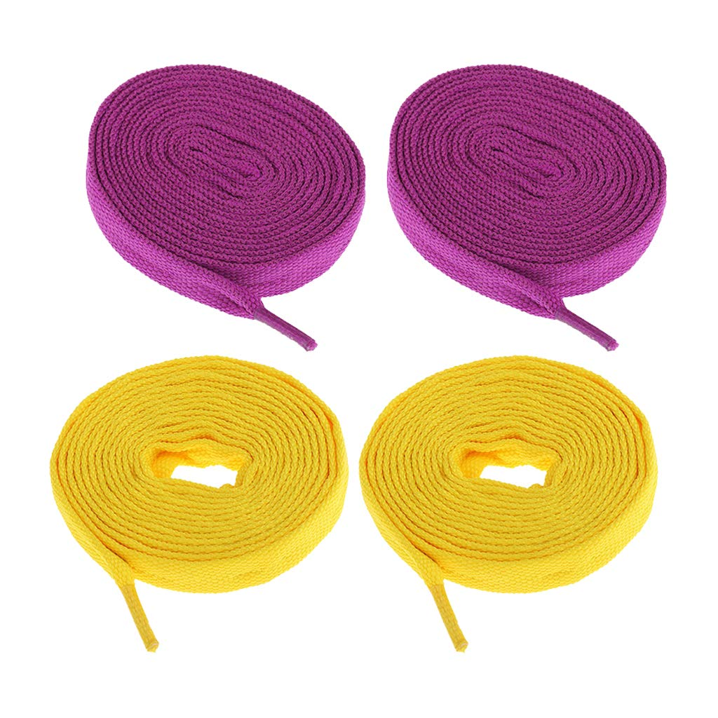 IPOTCH 2 Pairs Durable Skate Shoelaces for Outdoor Roller Skates Ice Skating Shoes Laces Unisex 180cm Long