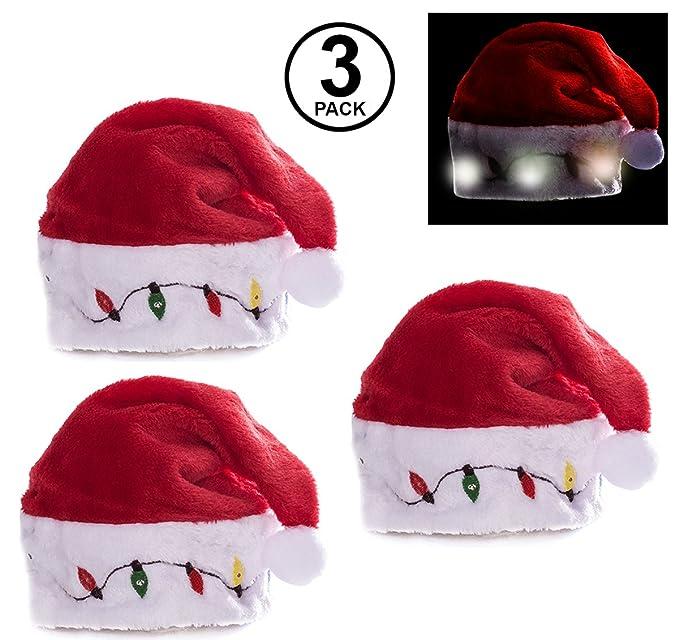 funny party hats blinking santa hats christmas novelty hats led light up santa hats