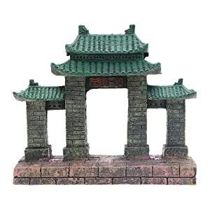 Saim Aquarium Resin Ancient Temple Ruins Ornament Fish Tank Decoration
