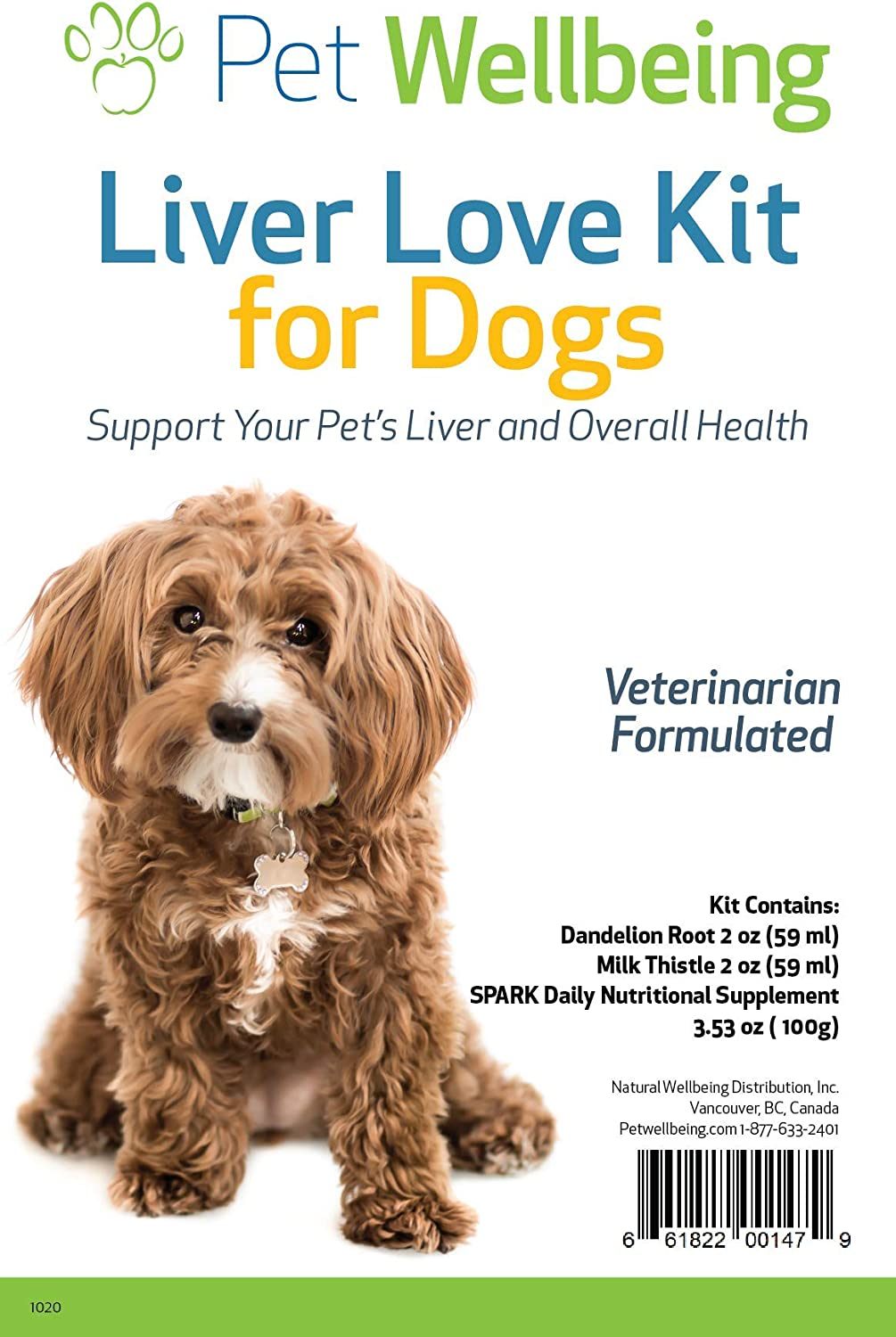 Pet Wellbeing - Liver-Love Kit for Dogs - Best Liver Support for Canines