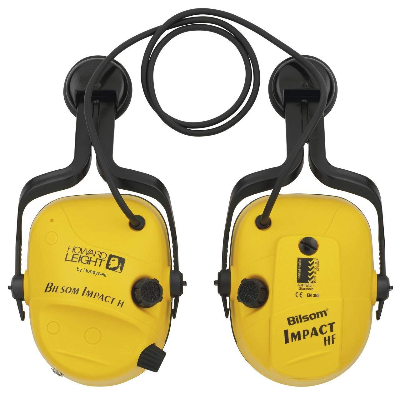 Howard Leight by Honeywell Impact Series Sound Amplification Hard Hat Electronic Earmuff (1010632) by Honeywell