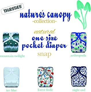 product image for Thirsties Nature's Canopy Cloth Diaper Collection Package, Snap Natural One Size Pocket Cloth Diaper, Nature's Canopy