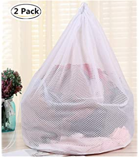 bf156a47b2 Commercial Heavy Duty Mesh Laundry Bags with Drawsting Disclosure Sturdy  Laundry Hamper Liners for College,