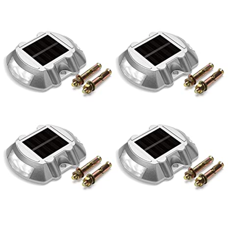 Newly Solar Energy Led Light Waterproof Driveway Road Stud Path Step Dock Outdoor Lamp Excellent Quality In