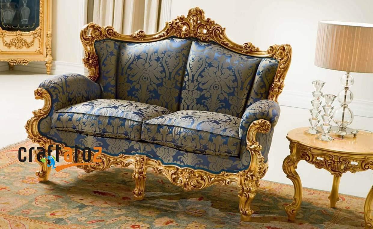 Craftatoz Teak Wood Sofa Set 3 2 1 For Living Room Amazon In Home Kitchen