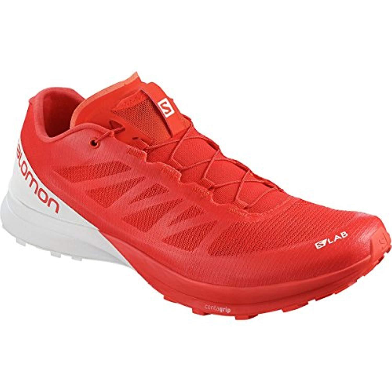 Salomon - Zapatillas de Running de Tela, sintético para Hombre Rojo Racing Red White White 43 EU|Racing Red White White