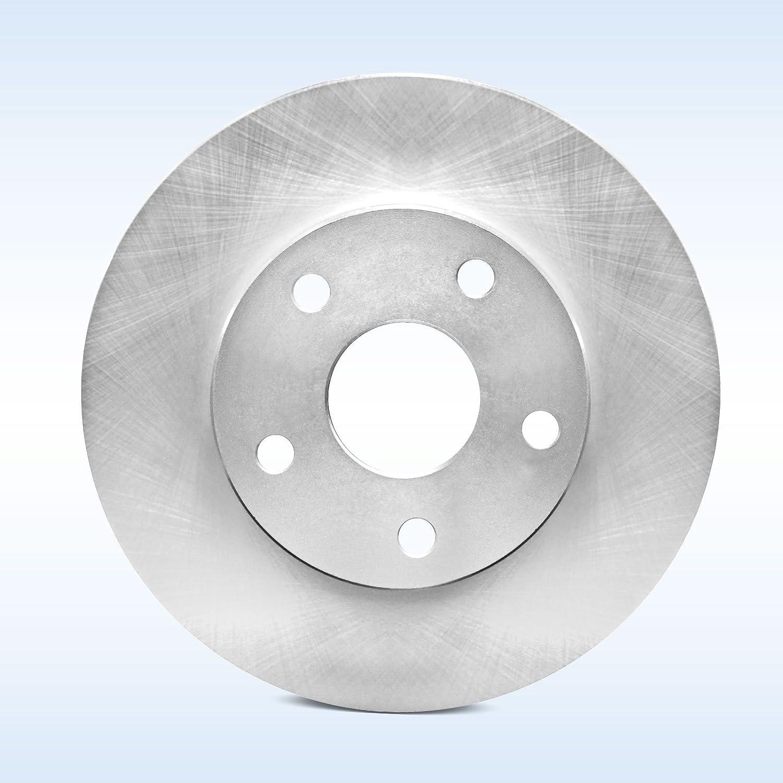 REARS 80875 Power Sport Plain Replacement Brake Rotors and Ceramic Brake Pads Kit