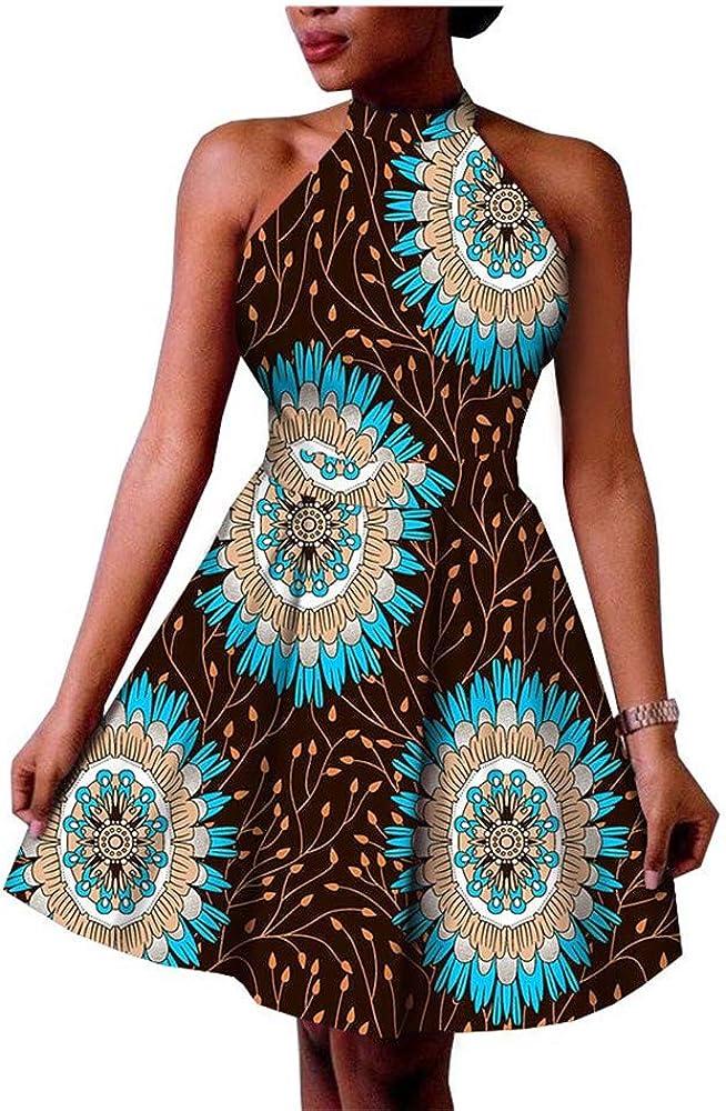 African Women Skirt Dresses for Women Ankara Print Ball Gown Wax Fabric Girl Floral Formal Suit
