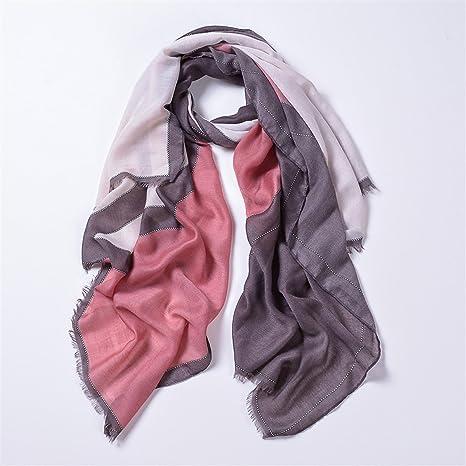 DYEWD Foulards,Écharpe pour femmes, nouvelle écharpe européenne, écharpe  imprimée en forme de 552e8c1e96a