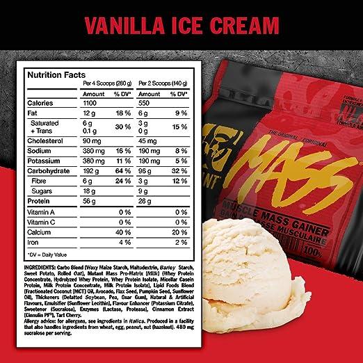 Mutant Mutant Mass Coconut Cream - 6800 gr: Amazon.es: Salud ...