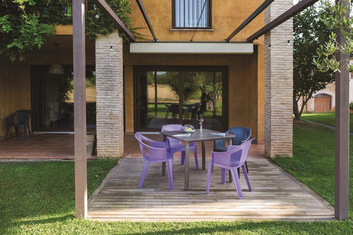 resol Mesa de jardín Exterior Cuadrada Noa 90x90 - Color Arena ...
