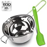 Stainless Steel Double Boiler with Silicone Spatula, Melting Pot with Heat Resistant Handle for Melting Chocolate, Candy, Can