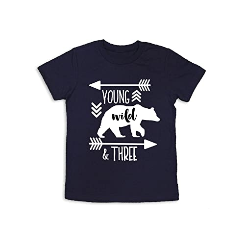 Oliver And Olivia Apparel Young Wild Three Shirt 3rd Birthday Years Old