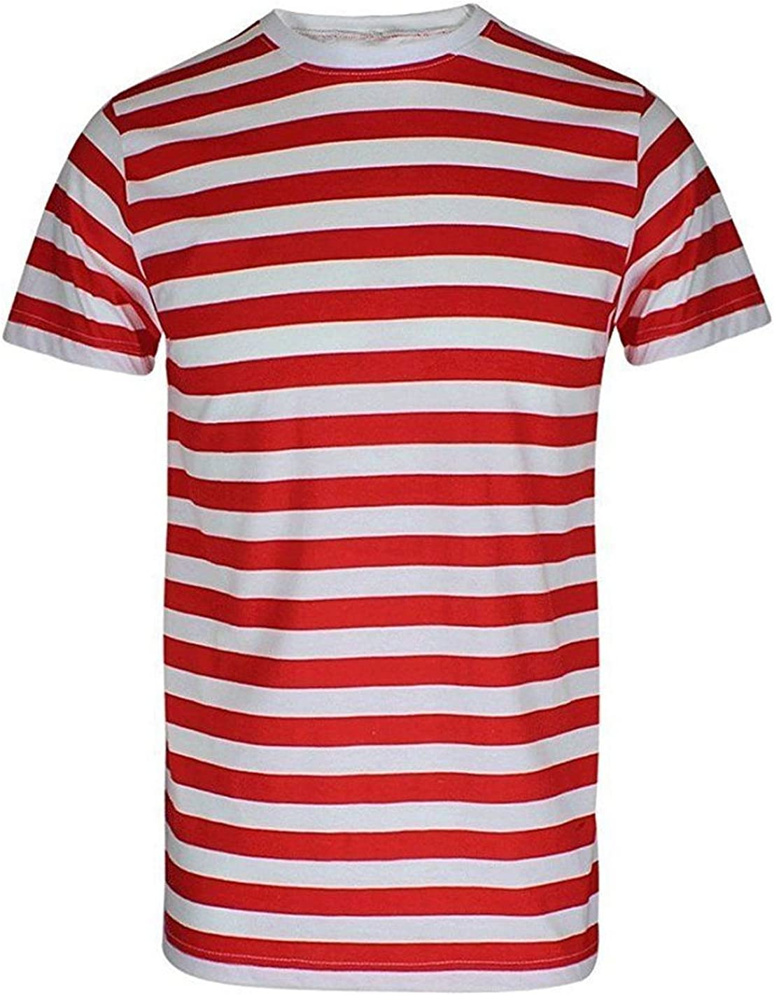 New Kids Red /& White Stripe Short Sleeve T-Shirt Children/'s Book Week Fancy Top