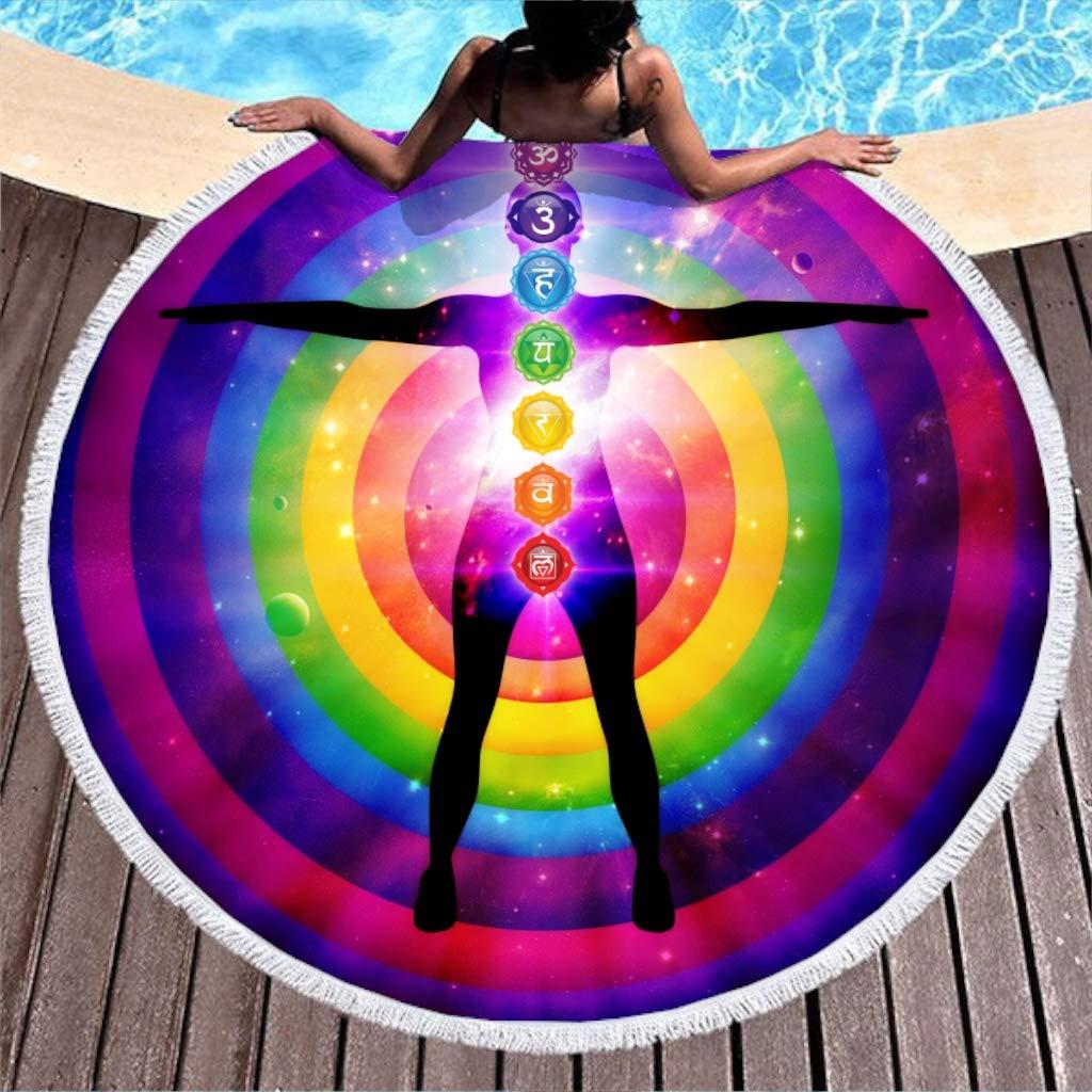 Amazon.com: Gdamour Large Round Microfiber Beach Towel ...