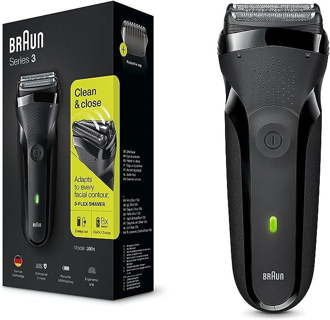 Braun Series 3 Shave&Style 300BT, Afeitadora eléctrica 3 en 1, maquinilla para hombre con recortadora de precisión para la barba, 5 peines, color negro: Braun: Amazon.es: Salud y cuidado personal