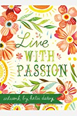 Live with Passion Katie Daisy Boxed Notecards Hardcover