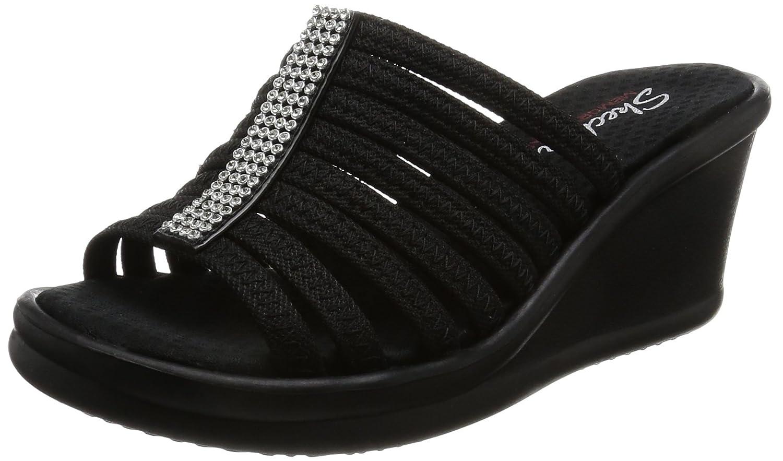 Skechers Damen Rumblers-Hotshot Sandalen  41 EU|Schwarz (Black)