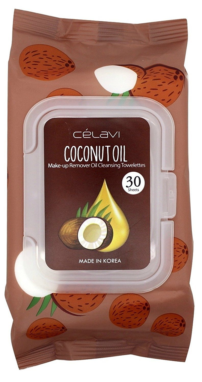 Amazon.com : Celavi Deep Cleansing Oil Makeup Removing Towelettes 1 Pack - 30 Sheets (Coconut Oil) : Beauty