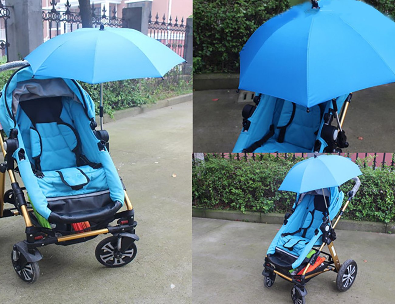 THEE Wheelchair Pushchair Baby Stroller Parasol Rain Sun Canopy Stretchable Pram Stroller Umbrella Holder Clip Clamp by THEE (Image #2)