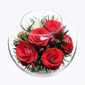 Ornements De Verre Vide Preserve Fleurs Fraiches Sur La Table