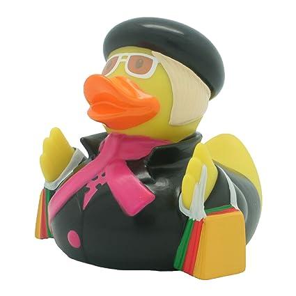 Pato de baño Pato Shopping queen, pato de goma, Pato de goma, Pato