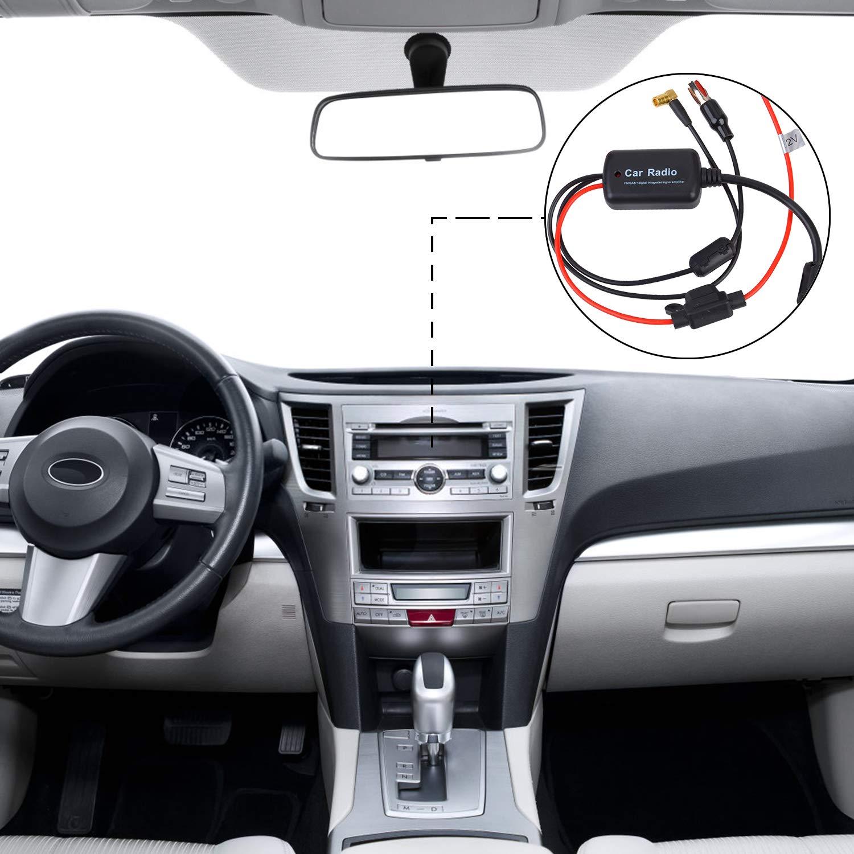 Fansport Antenna Dab Auto Autoradio Dab+FM Amplificatore Antenna per Auto Autoradio Segnale Radio Booster Universali