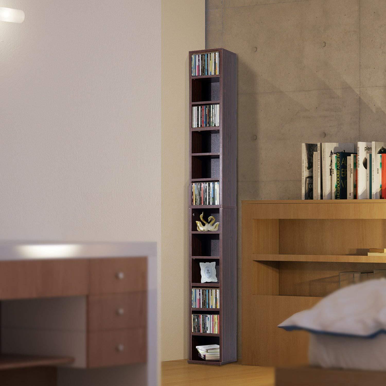benzoni Libreria Mobiletto Colonna da Parete con Mensole in Legno Marrone 21x20x175 cm