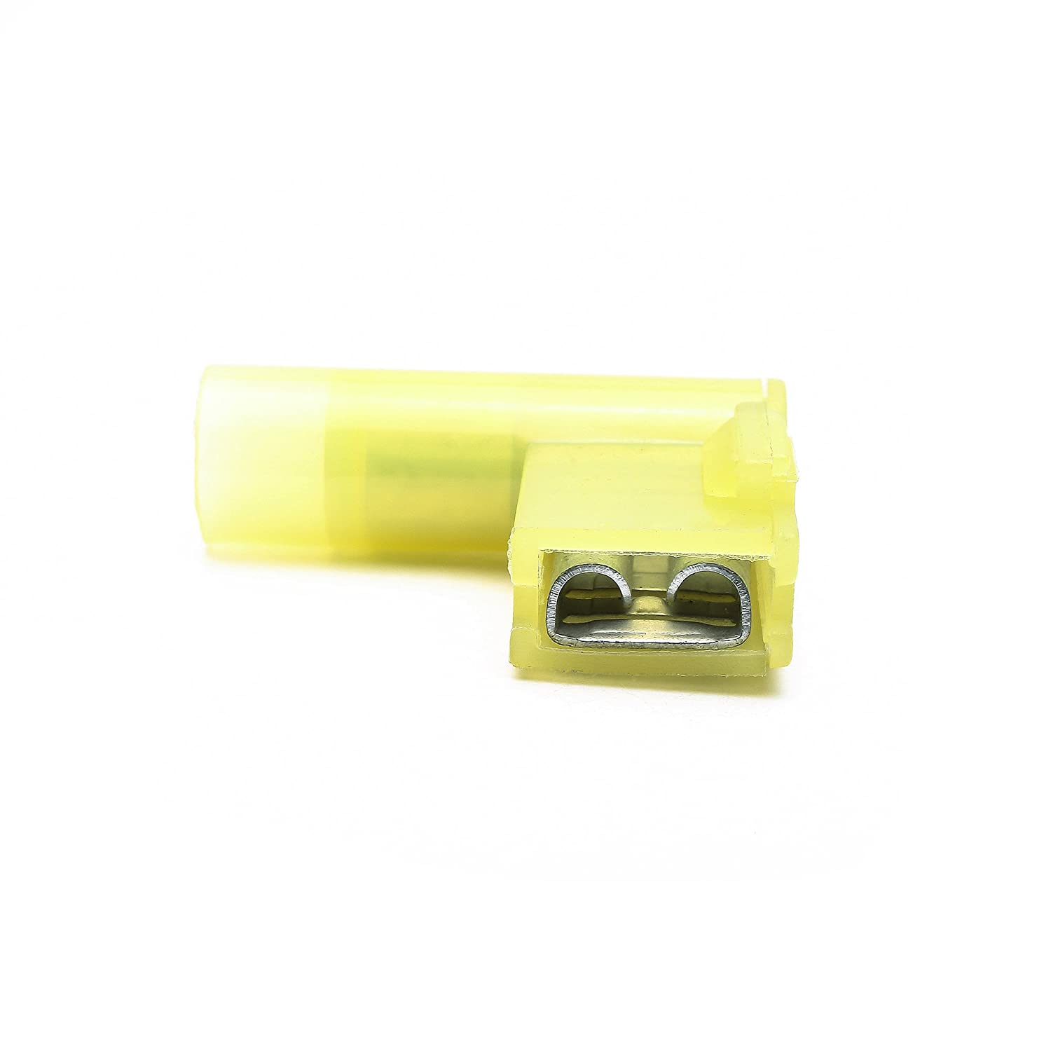 12-10 24A Fully Insulated Flag Wire Connector Quick Disconnects Electrical Wiring Female Spade Nylon Wire Crimp Terminal 50 Suyep A.W.G
