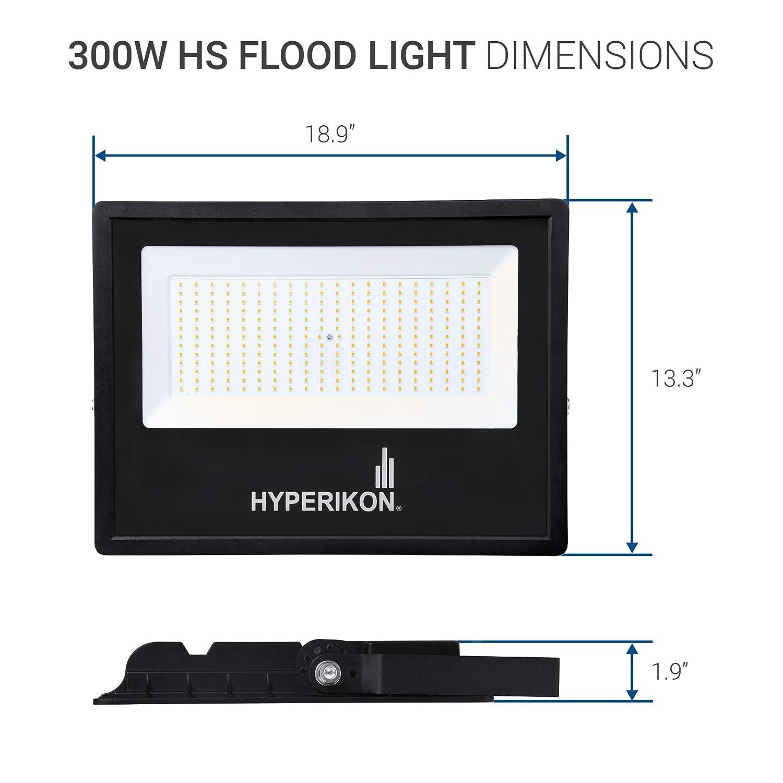 1000-1500 Watt Equivalent 30000 lumen, HyperSelect 300W LED Flood Light,