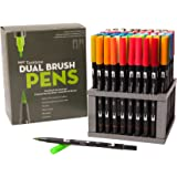 Tombow Dual Brush Pen Art Markers,96 Color Set with Desk Stand