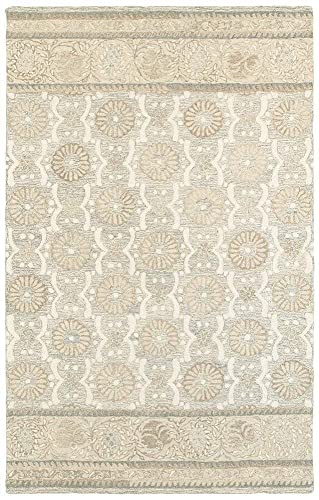 Liora Manne Seville Zebra Hand Tufted Rug, 5 by 8-Feet, Neutral