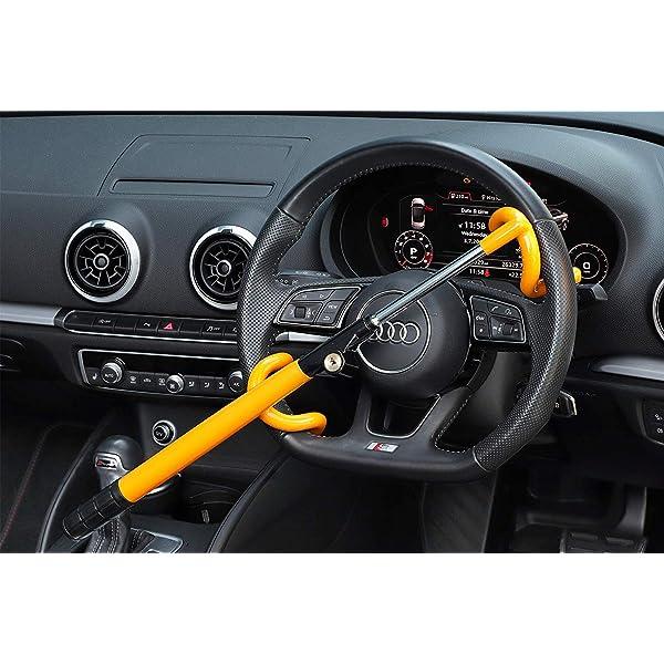 Fayre Ware Steel Car Steering Wheel Lock,Universal Heavy Duty Steering Wheel Lock Secure Car Van Anti-theft Device with 2 Keys