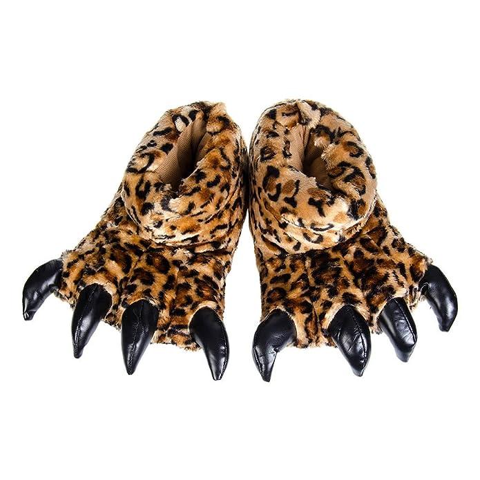 Blue Banana Zapatillas de Leopardo con Garras (Marrón) - S / M AI0kH7Hf